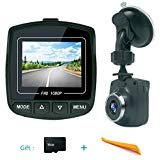 Onlylife Dash Cam,Car DVR, Dashboard Camera,Car Driving Recorder DVR,1080P Full HD Mini Driving Video Recorder with Wide Angle,G-Sensor, Loop Recording,16G microSD Card W4