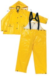ONGUARD 76017 3-Piece PVC on Polyester Webtex Suit with Detachable Hood, Yellow, Size 3XL by ONGUARD Industries (Image #1)