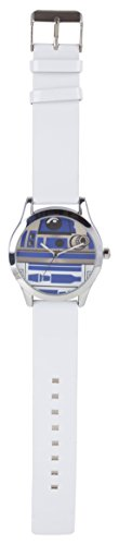 Star Wars Quartz Watch with Multicolour Dial Analogue Display and White PU Strap STAR296
