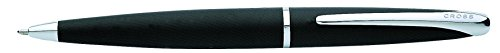Cross ATX Basalt Black Ballpoint Pen with Chrome Plated Appointments (882-3)