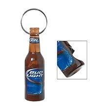 bud light minature bottle bottle opener keychain kitchen dining. Black Bedroom Furniture Sets. Home Design Ideas