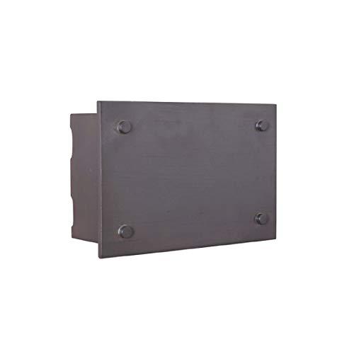 [해외]수제 ICH1600-AI 조명 차임 시스템 산업 직사각형 LED LED 문 차임 세이드 아이언 (9.13\\ / Craftmade ICH1600-AI Illuminated Chime System Industrial Rectangle Lighted LED Door Chime Aged Iron (9.13H x 6.25W)