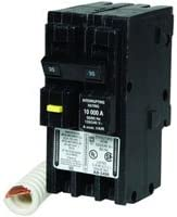 SQUARE D Plug In Circuit Breaker,25A,1P,10kA,120V HOM125