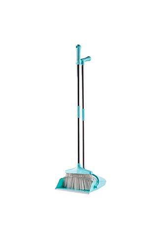 Broom and Dustpan with Handle Set - Long Handled, Collapsible & Extendable to 53