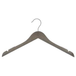 17'' Graywash Wooden Hanger, Top, 100 per set by Retail Resource