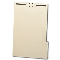 Heavy Duty 14pt. File Backers 1/3 Cut Tabs Legal Size with Fasteners, 100 per Box