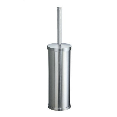 Studio Free Standing Toilet Brush and Holder Finish: Brushed Chrome