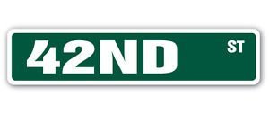 (42ND Street Sticker Sign New York borough Manhattan theater broadway terminal gift - Sticker Graphic - Auto, Wall, Laptop, Cell, Truck Sticker for windows, cars, trucks, tool boxes, laptops)