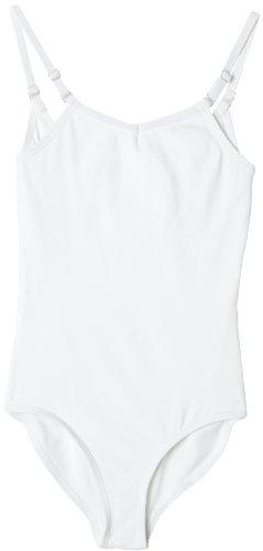 Capezio Camisole Leotard w/ Adjustable Straps - Girls - Size Child Large, White ()