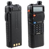 Baofeng UV-5R Dual Band UHF/VHF Radio Transceiver W/Upgrade Version 3800mah Battery with Earpiece - Built-in VOX Function, 136-174/400-480MHz by BAOFENG