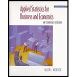 Applied Statistics for Business and Economics, Webster, Allen L., 0256225540