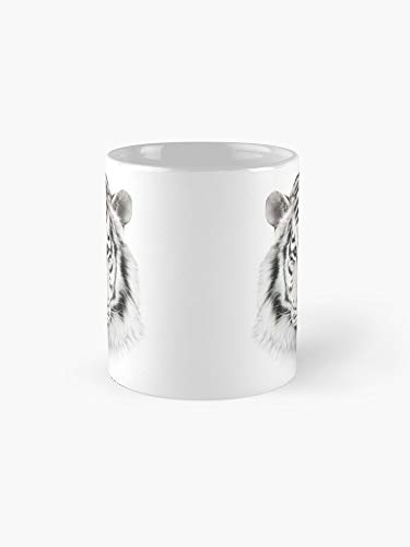 White Tiger Head 11oz Mug - Made from Ceramic - Best gift for family friends.