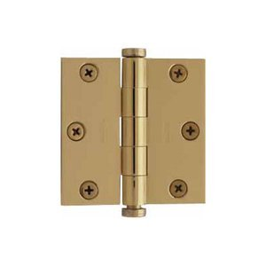 "Baldwin 1045.I 4.5"" x 4.5"" Solid Brass Square Corner Plain Bearing Mortise Hinge, Polished Chrome"