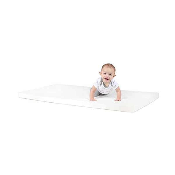 "Milliard 2-Inch Ventilated Memory Foam Crib/Toddler Bed Mattress Topper with Removable Waterproof 65-Percent Cotton Non-Slip Cover - 51.5"" x 27"" x 2"" 2"