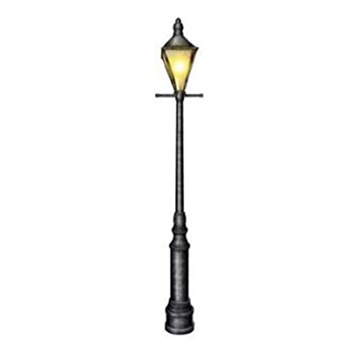 hersrfv home Jointed 6 Foot Lamppost Wall Cutout Prop Christmas Winter Decoration