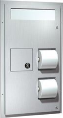 ASI 0481-HC, Toilet Seat Cover & Toilet Paper Dispensers w/Napkin Disposal, (Dual Access) for Handicapped by ASI (Image #1)