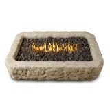 Real Flame C568LP-ANS Rectangle Propane/Natural Gas Fire Table, Antique Stone