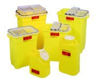 2983792 PT# 305603 Collector Sharps 9gal XL Yellow/ Natural Chemotherapy 8/Ca Made by Becton-Dickinson