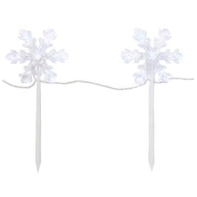 Winter Wonder LED Snowflake Pathway Border Lights Twinkle Effect : Garden & Outdoor