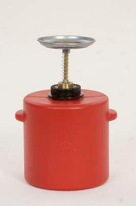 Safety Cans - 4 Qt Red Poly Plunger Can - SAFETY-EG-P714