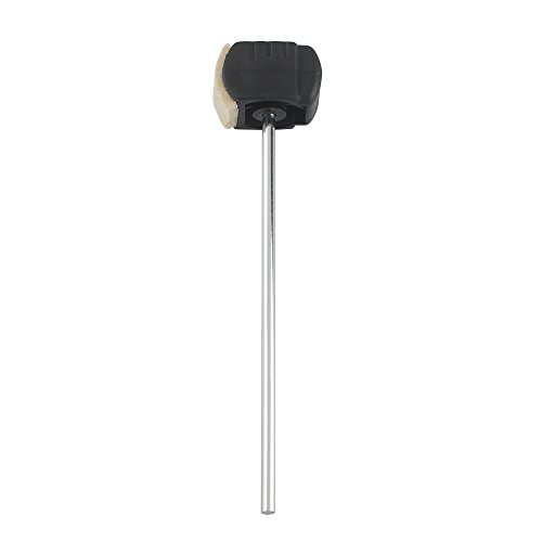 ammoon Bass Drum Pedal Beater Wool Felt Stainless Steel Handle Percussion Instrument Accessories Parts (Beaters Replacement Drum Bass)