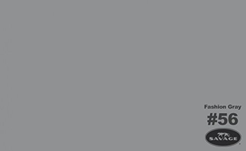 Savage Seamless Background Paper, 53'' wide x 12 yards, Fashion Gray, #56 by Savage