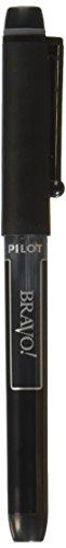 Black Ink Dozen Pens - Pilot Bravo Liquid Ink Marker Pens, Bold Point, Black Ink, Dozen Box (11034)