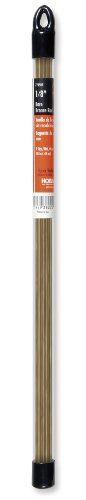 Hobart 770509 Low-Fuming Bare Bronze Gas Welding Rods, 1/8-by-18-Inch
