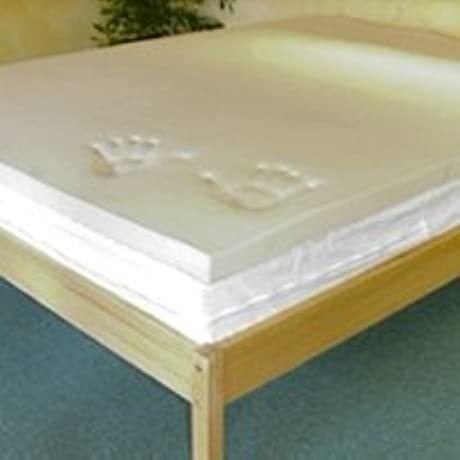Eastern King 1 Thick 5 3 LB Memory Foam Mattress Topper With 100 Cotton Cover