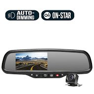 Rear View Safety RVS-776718-DOS OEM G-Series Black Rear View Camera System with Auto Dimming and - Onstar System