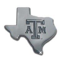 Texas A&M (TX shape debossed) Premium NCAA Athletics Car Truck Auto Emblem