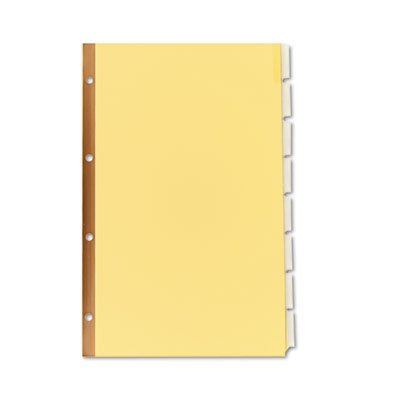 WorkSaver Insertable Tab Index Dividers, 8-Tab, Legal, Clear, 8/Set, Total 36 ST, Sold as 1 Carton
