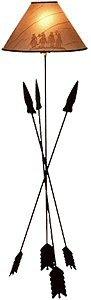 "Lazart® 58"" Three Arrow Floor Lamp w/ 3-Way 50-100-150 Watt Switch, 120-Volt (Shade Sold Separately)"