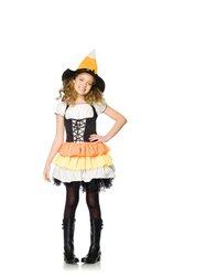 Leg Avenue Kandy Korn Witch, Black/Orange, Medium - Kandy Korn Witch