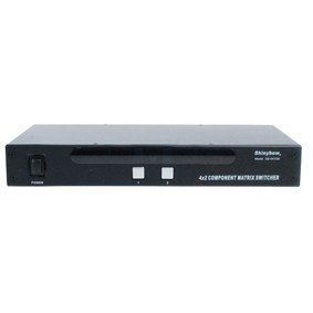 Shinybow 4:2 (4x2) Component Video + Audio HDTV HD Matrix Switcher (Black color) ()