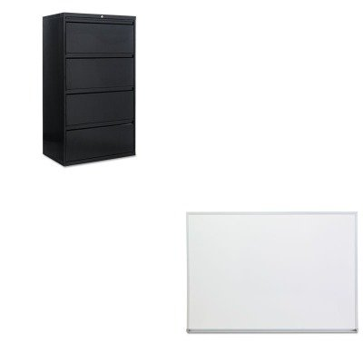 KITALELF3054BLUNV43624 - Value Kit - Best Four-Drawer Lateral File Cabinet (ALELF3054BL) and Universal Dry Erase Board (UNV43624) by Best