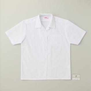 フォーマットエール私たちのもの(ビーステラ) 開襟 半袖 シャツ BS270 ホワイト