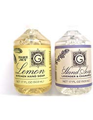 Trader Joe's Hand Soap Bundle: Lemon Kitchen Hand Soap 17 Oz and Lavender and Chamomile Hand Soap