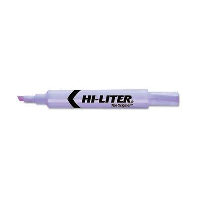 - HI-LITER - Desk Style Highlighter, Chisel Tip, Purple - 12/Pack