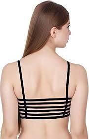 5e0736bb02da Vinie Women's Cotton Bralette (Removal Pads) (6SB05_Free Size_Black ...