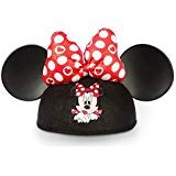 Disney Parks Minnie Mouse Ears Hat Polka Dots Hearts