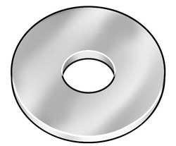 Pk500 1//8x3//8 In Westward 5NNT6 Rivet Washer Zinc Round