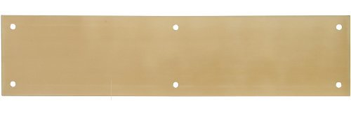 The Hillman Group 852733 3-1/2 x 15 Push Plate - Solid Brass - Bright Brass Finish 1-Pack (2)