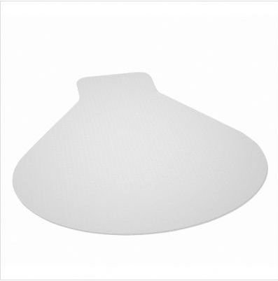 E S Robbins EverLife Collection Workstation Shaped Chair Mat - 66'' x 60'', Clear Vinyl by ES Robbins