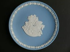 Wedgwood England Blue Jasperware Royal Mint Classics Britannia by Philip Nathan Limited Edition Plate