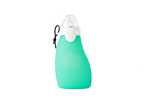 The Original Squeeze - 6 Oz Leaf Silicone Squeeze, Reusable and Refillable Food Pouch with Squeeze with Eeeze Spout