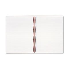 Twinwire Semi-Rigid-Cover Notebooks, Margin Rule, 70 Sheets By: Black n' Red