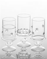 Abigails Footed Votives, 3 by 3 by 6.5-Inch, Set of 6 by Abigails