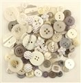 BUTTONS GALORE 50 PIECE BUTTON VALUE PACK - WEDDING