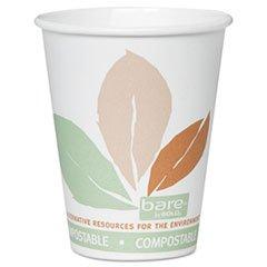 SLOOF8PLAJ7234 Solo Cup Company Bare Paper Hot Cups, 8oz., 500/CT, White/w...